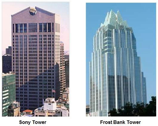 Sony Tower and Frost Bank Building