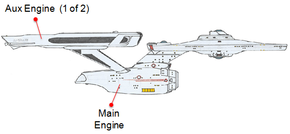 USS Enterprise Engines Diagram