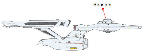 USS Enterprise Sensors Diagram